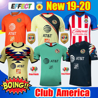 verein neue trikots großhandel-Neu eingetroffen 2019 20 Club America Soccer Trikots 2020 Mexico Club de Cuervos Heim Auswärts Dritter Guadalajara Chivas 19 20 Fußballtrikots soccer jerseys football shirts