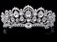 coroas redondas para noivas venda por atacado-Coroa de casamento de diamante de água quente 2019 nova noiva coroa headdress rodada
