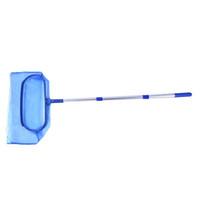 folha de compensação venda por atacado-Nova Piscina Folha de Limpeza Net Skimmer + Pólo Destacável Para Spa Koi Fish Pond Leve Fácil de usar Ferramenta de Limpeza