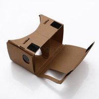 Wholesale google vr online - Google Cardboard D DIY D glasses VR boxes Virtual Reality Viewing google Version Novelty Toys Items AAA1636
