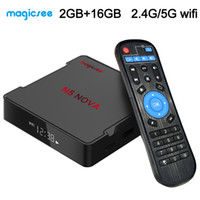 Wholesale 4k media player android tv box for sale - Group buy Magicsee N5 Nova TV Box Android G G Dual Band G G Wifi Rockchip RK3318 Quad Core Bluetooth K Streaming Media Player TV Boxes