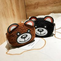 bolsa mini osos de peluche al por mayor-Xiniu Cute Women Cartoon Wild Broadband Teddy Bear Crossbody Bag Plush Bear Bag Girls Mini Purse Phone Money Messenger Bags