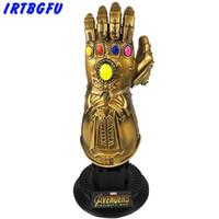 figurinhas de ferro venda por atacado-Thanos Gauntlet Avengers Infinito Figuras de Ação de Guerra Cosplay Superhero Homem De Ferro Ação Collectible Figurines Modelo Toy Venda Quente