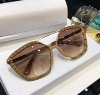 amuletos de metal para gatos al por mayor-LEONES Para mujer Diseñador de la marca Gafas de sol de lujo Montura de metal Gafas de ojo de gato Estilo de diseño vanguardista Gafas de lentes de calidad superior UV400