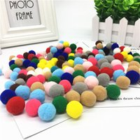 Wholesale toy manual resale online - 200PC Bag mm color Pompom DIY Decoration Ball Pompon Children s Manual Educational Toys Accessories DIY Decoration Ball