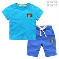 ingrosso vestiti di marca bebe-T-shirt e pantaloncini di marca per bebè e ragazzi Tute di marca per bambini Abbigliamento per bambini Set Abbigliamento per bambini