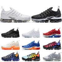 hot sales b623f 069f0 Nike air vapormax tn plus chaussures hommes formateurs Game Royal rouge USA  raisin orange blanc Triple noir blanc hommes femmes running chaussure  baskets