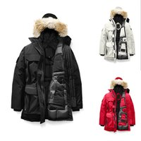 ingrosso giacca di lusso di pelliccia giù donne-Donne della pelliccia inverno palla Designer Jacket 2020 cappotti di lusso Canada Piumini Lungo Parka cappotto di trincea delle donne Warm Doudoune Femme