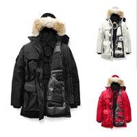 меховая куртка роскошь вниз женщин оптовых-Мех зимы женщин Puffer дизайнер куртка 2020 пальто Роскошного Женской Канады пуховики Длинного Parka пальто шанца Теплого Doudoune Femme