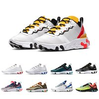 Wholesale tan tape for sale - Group buy 2020 Tour Yellow react element mens running shoes men women Orange Peel Sail triple black Taped Seams trainers Outdoor sports sneakers