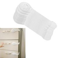 armários de plástico para bebês venda por atacado-10 pçs / lote Gaveta Porta Do Armário Armário de Segurança Do Banheiro Fechaduras Do Bebê Crianças Cuidados Com Segurança Fechaduras De Plástico Cintas Infantis Proteção Do Bebê