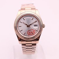 Wholesale watch stripes free resale online - tabie availableHot Men s Automatic Movement Classic Style Watch DAYDATE MM Silver Stripe Dial Sapphire Original Clasps