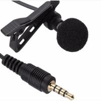 headset-aufzeichnung großhandel-Kabelgebundene gewöhnliche 4-polige PE-Beutelverpackung Durchmesser 4,0 * 1,5 Interviewaufnahme K-Song kleines Mikrofon Lavaliermikrofon