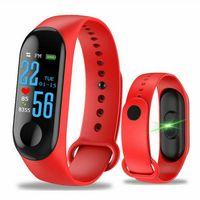 ingrosso braccialetto cellulare-M3 intelligente Bracciale fitness inseguitore intelligente Guarda con frequenza cardiaca impermeabile Bracciale Pedometro Wristband per iOS Android cellulare DHL libero