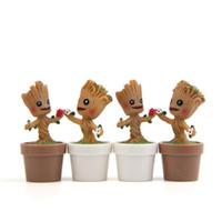ingrosso decorazioni in resina diy-Tree Man Flower Pot Mini Groot Toys Figura DIY Micro Landscape Doll Decorazione del giardino Resina Regalo di compleanno 5 5jn C1