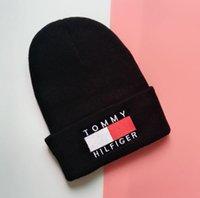 ingrosso berretti da uomo di marca-Evrfelan Brand Fashion Winter Skullies Berretti a maglia Donna Uomo Cappelli Colore solido Inverno Berretti Cappelli