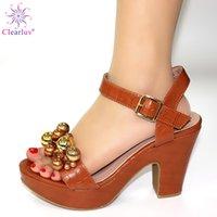 zapatos a juego bolsas marrón al por mayor-Brown para que coincida con cordón de Vestir Zapatos italianos Sin Bolsas SET no africana a juego zapatos y bolsos de la boda del verano