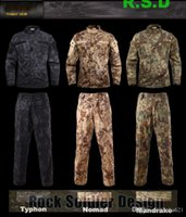 taktik pantolon gömlek toptan satış-Erkek Giyim Kryptek Mandrake kamuflaj üniforma GÖMLEK ve PANTOLON taktik setleri