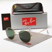 Wholesale aviators sunglasses blue lens for sale - Group buy 2019 Aviator Ray Sunglasses Vintage Pilot Brand Band UV400 Protection Bans Mens Womens Men Women Ben wayfarer sun glasses with box case
