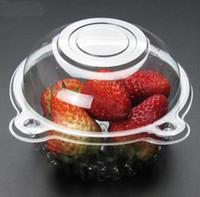 прозрачная пластиковая шапка оптовых-Eco-Friendly выпекание Hat Очистить пластиковые одноразовые пластиковые торт Контейнер Кексы упаковки Box Cake Box Salad выпекание инструмент кухни
