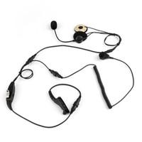 ingrosso cuffie ptt walkie talkie-Motorcyle Half Close Helmet Headset Headphone Finger PTT Mic per Motorola APX2000 APX6000 DGP8050 Radio portatile Walkie Talkie