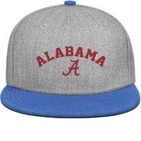 американская футбольная команда синяя оптовых-Американская футбольная команда колледжа Алабама синий мужские и женские оснастки назад, плоский мяч дизайн с капюшоном дизайнер дизайн собственных шляп моды