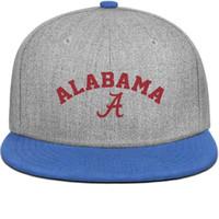 equipo de fútbol americano azul al por mayor-El equipo de fútbol americano universitario de alabama azul para hombre y las mujeres se recuperan, el diseñador de diseño de la bola de la gorra de ala plana diseña tus propios sombreros de moda