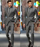 ternos cinzentos escuros para o noivo venda por atacado-