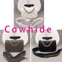 Wholesale cowhide woman wallet brand online - Women new Fashion crossbody bag Luxury cowhide Leather Handbags Brand designer wallet Shoulder Bag high quality