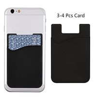 Wholesale plain white phone cases for sale – best 1pc Business Credit Pocket Adhesive Fashion Women Men Cell Phone Card Holder Id Card Holder Slim Case Sticker Bus Card