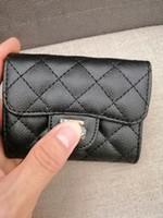 bozuk para çantası toptan satış-YENI 2019 kadın Moda Kart Sahipleri Deri Kuzu Derisi Kapitone Flap Mini Cüzdan Kadın Çantalar Kart Tutucu Para Kılıfı