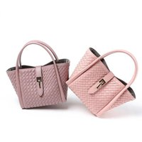 Wholesale china ladies satin for sale – plus size Made In China Nice New Womens Bag Buckle Mother Braided Handbag Shoulder Bag Fashion Trend Ladies Cheap