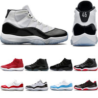 Wholesale mens suede summer breathable shoe for sale - Concord Mens Basketball Shoes XI s prom night Platinum Tint Gym Red Bred womens sports sneakers trainers size