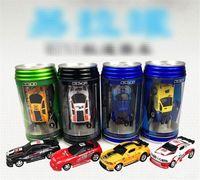 ingrosso coke mini racer cars-Nuovo 8 colori Mini-Racer Remote Control Car Coke Can Mini RC Radio Remote Control Micro Racing Car