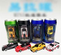 kola mini yarışçılar olabilir toptan satış-Yeni 8 renk Mini-Racer Uzaktan Kumanda Araba Coke Mini RC Radyo Uzaktan Kumanda Mikro Araba Yarışı