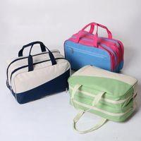 Wholesale camping packs for sale - Women Travel Bags Waterproof Oxford Bag Wet Dry Separation Handbags Holder Pack for Outdoor Beach Travel Shower Packs Bags GGA1650