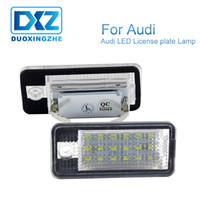 audi a4 b6 led lumières achat en gros de-Eclairage de plaque d'immatriculation numéro DXZ 2X LED Canbus gratuit pour Audi A4 A6 2006 C6 A3 S3 S4 S6 B6 S6 A8 S8 RS4 RS6 Q7 12V 24V Blanc