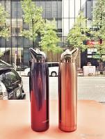 regalos para los amantes del zorro al por mayor-Fox botella de agua Copas de vacío de acero inoxidable Llevar la cuerda del color puro frío Estudiante amantes del regalo termo resistente al calor 18 7jjB1