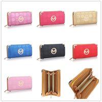 bozuk para çantası toptan satış-29 Renkler Tasarımcı Marka Kadın Erkek Cüzdan Para Çanta Michael PU Deri Çanta Kart Yuvası Çanta Kılıfı Lüks Parti Çanta Notecase B61302