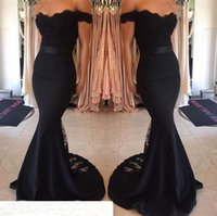 Wholesale green lady evening dress resale online - Long Mermaid Evening Gowns With Lace Appliques Vestido Longo Sexy Backless Sweetheart Ladies Formal Dresses