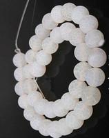 contas de pedras de ônix colares venda por atacado-Branco 4mm 8mm 6mm 10mm weathered ágatas pedra natural beads geada ônix rodada solta pérolas diy colar pulseira brincos diy fazer jóias