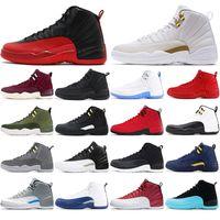 ingrosso pattini di pallacanestro di moda gamma-Nike AIR Jordan 12 Con calzini moda 12 12s Scarpe da basket per uomo Winterized WNTR grigio lupo Gioco influenzale BLU GAMMA Taxi the master men Sneakers sportive