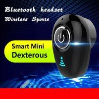 auriculares ocultos al por mayor-El último mini auricular Bluetooth Auriculares inalámbricos ocultos Auriculares Manos libres Bluetooth Auriculares estéreo con micrófono para todos los teléfonos inteligentes