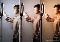 ingrosso lampada web-Cellulare Anello illuminazione diretta Broad Casting Supplemento luce della lampada di ancoraggio di bellezza e tenero della pelle selfie Foto Graphy Agitare Suono Web Celebr