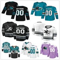 Wholesale sharks hockey resale online - Custom San Jose Sharks Aaron Dell Antti Suomela Barclay Goodrow Brenden Dillon Men Women Kids Youth Hockey Jerseys