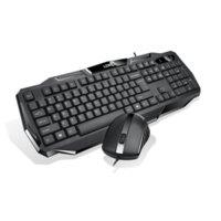 videokombinationen großhandel-Multimedia Silent Wirered Tastatur und Maus kombiniert mit wasserdichten, schlanken 3D-Mäusen für TV-Laptops Desktops PC Video Home Office