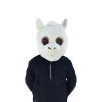 белые головы животных оптовых-Белый Плюшевые Головы Маска Мода Талисман Головы Маски Животных Головы Маски