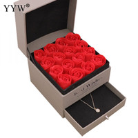 Wholesale soap box wedding favors for sale - Group buy Party Wedding Favors Regalos Souvenirs Valentines Soap Rose Gift Box Wedding Gifts For Guests Jewelry Box Gift For Girlfriend