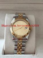 женские наручные часы оптовых-4 цвета Lady Mechanical, часы Высокое качество, 26 мм, два тона, золото, нержавеющая сталь new179173 Дата всего 18k желтое золото Азия