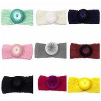 bebek örme saç toptan satış-Bebek Bebek Örme Bantlar Kızlar Saç Bantları Çocuk Düğüm Saç Aksesuarları Isıtıcı Şapkalar Kızlar Bantlar KKA6587